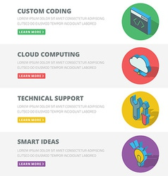 Flat design concept for coding cloud computing vector image