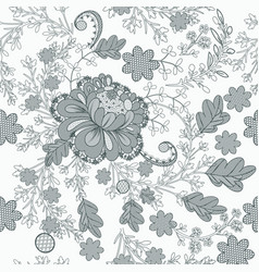 floral lace wedding pattern in filigree style vector image