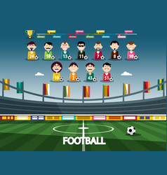 football stadium with soccer team sport vector image
