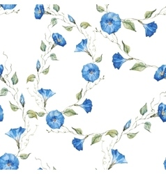 Gentle watercolor floral pattern vector
