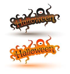 Halloween bunner vector