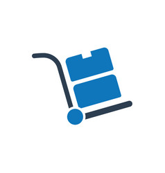 hand trolley icon vector image