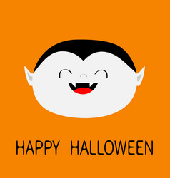 Happy halloween count dracula white head face vector
