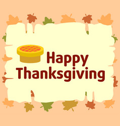 happy thanksgiving background with pie vector image