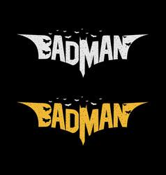 Hero badman - funniest batman vector