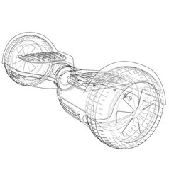 hoverboard electric self-balancing scooter vector image