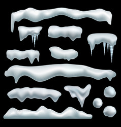 ice cap snow caps with shadow snowdrifts vector image