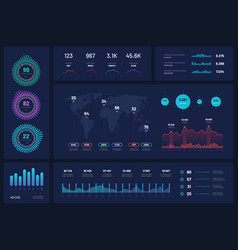 infographic template dashboard ui interface vector image