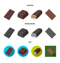 Isolated object chocolate and flavor logo vector