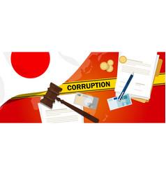Japan corruption money bribery financial law vector