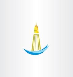 lighthouse symbol design vector image