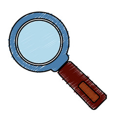 Magniyfing glass icon vector