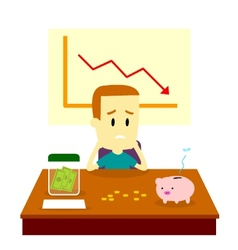 Man Got Financial Problem vector image