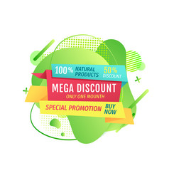 Mega discount and special promotion deal vector
