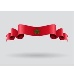 Moroccan wavy flag vector