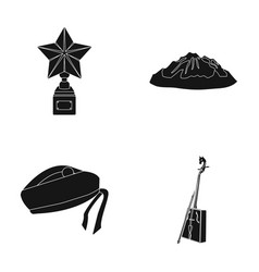 Music travel and other web icon in black style vector