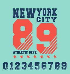 new york city t shirt print design vector image