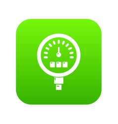 pressure meter icon green vector image