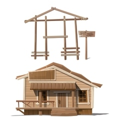 Process of building house and sign sale vector