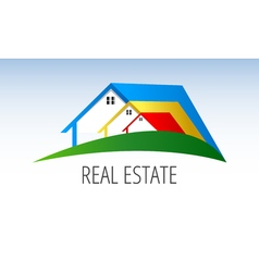 Real estate symbols - roofs of houses and vector image