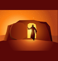 Resurrection jesus vector