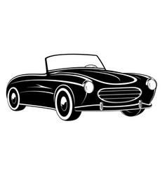 retro car vintage car sport car vector image