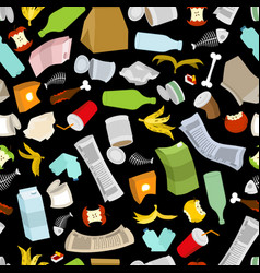 Rubbish seamless pattern garbage texture trash vector