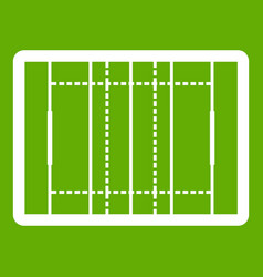 Rugfield icon green vector