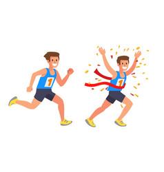 Running athlete sprinter man vector