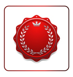 Seal award red icon Blank medal vector