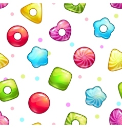 Seamless pattern with colorful glossy lollipops vector
