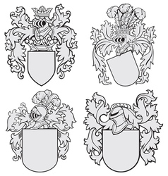 set aristocratic emblems no4 vector image