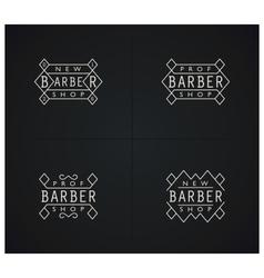 Set of four retro emblems for Barber Shop vector image