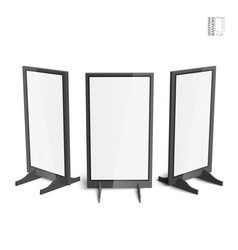 Set of simple outdoor indoor stander advertising vector