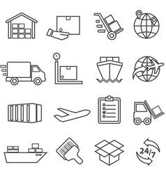 shipping cargo delivery distribution freight vector image