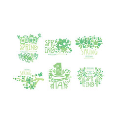 spring logo original design collection first may vector image