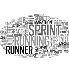 Sprint word cloud concept vector