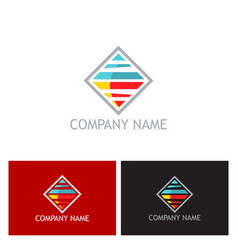 Square technology logo vector