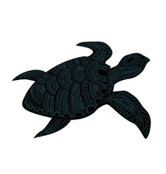 Stylized turtle vector image