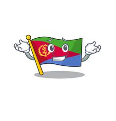 Super cool grinning flag eritrea mascot cartoon vector