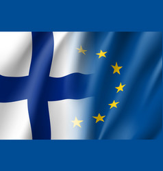 Symbol finland is eu member vector