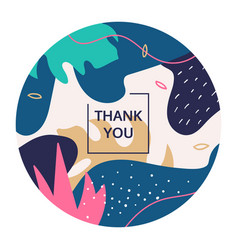 thank you abstract colorful poster template vector image