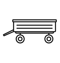 trailer icon outline style vector image
