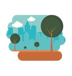 tree park city urban panorama vector image