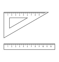 triangle ruler and straightedge vector image