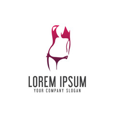 underwear woman logo design concept template vector image