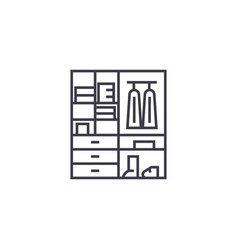 wardrobe line icon sign on vector image