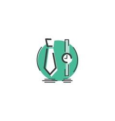 Watch and Tie Icon vector