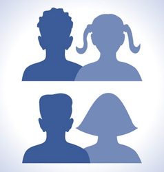 web friends icon vector image