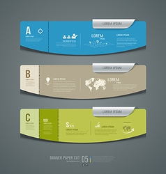 Banner colorful label paper cut for business vector image